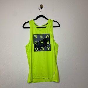 Beachbody Neon Green Element GFX Muscle Tank Top